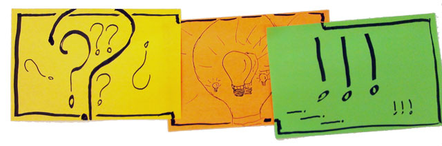 De tre I'er - Indsigt/inspiration, Ideudvikling og Implementering